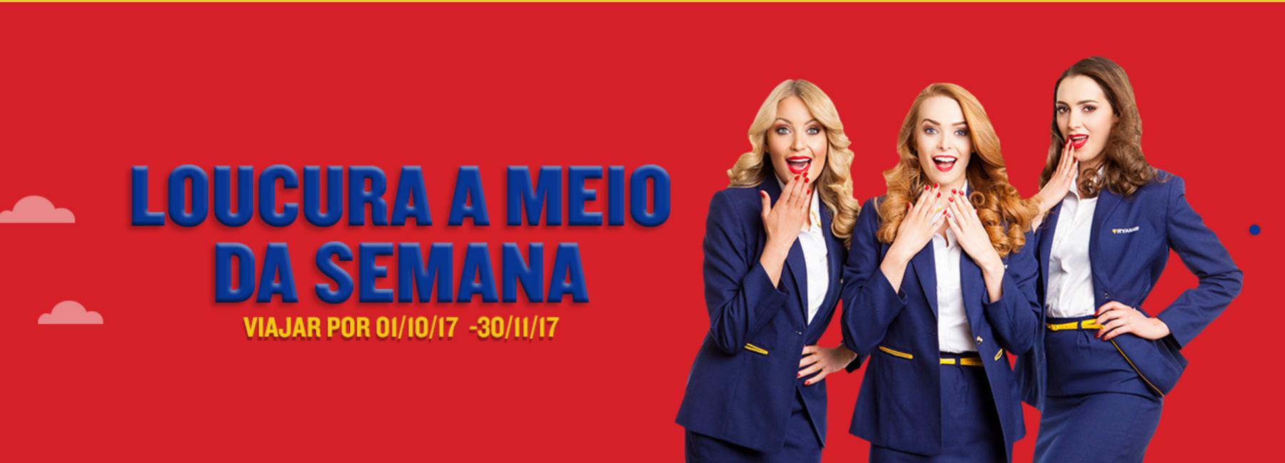 Ryanair promoção viagens