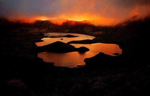 Caldeirão by sunset