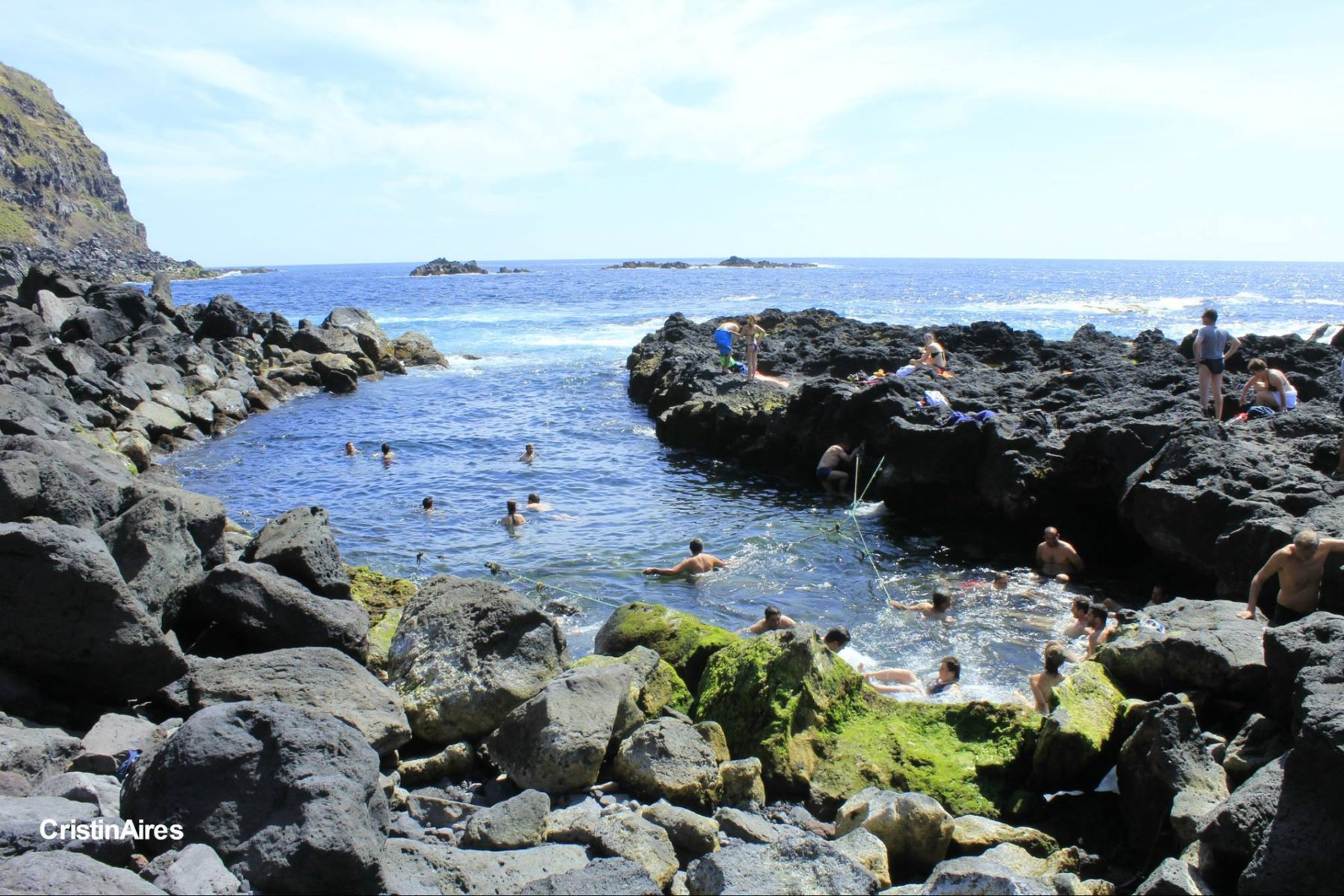 Ponta da Ferraria - nascente termal - São Miguel, Açores