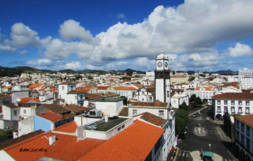 Ponta Delgada vista da torre Sineira da Câmara Municipal