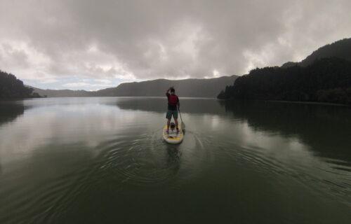 SUP in Furnas Lake
