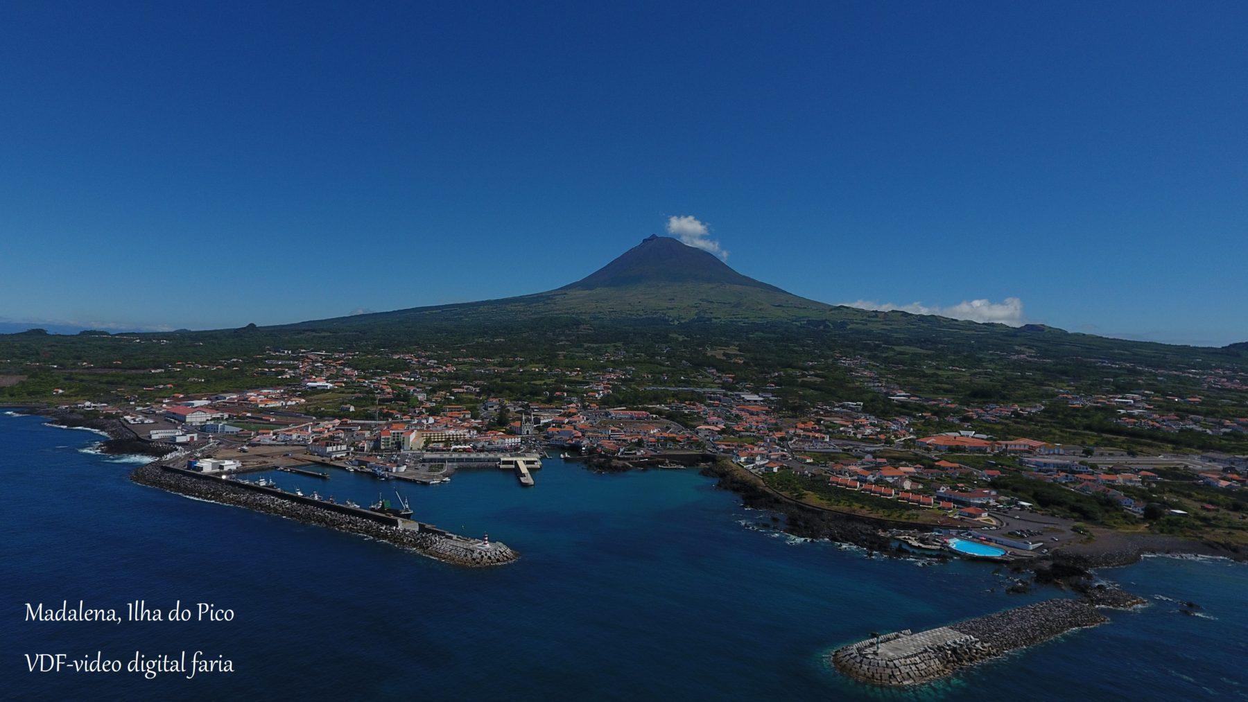 Vila da Madalena Ilha do Pico, Vista aérea com Drone