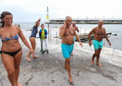 Marcelo Rebelo de Sousa - Banhos - Açores