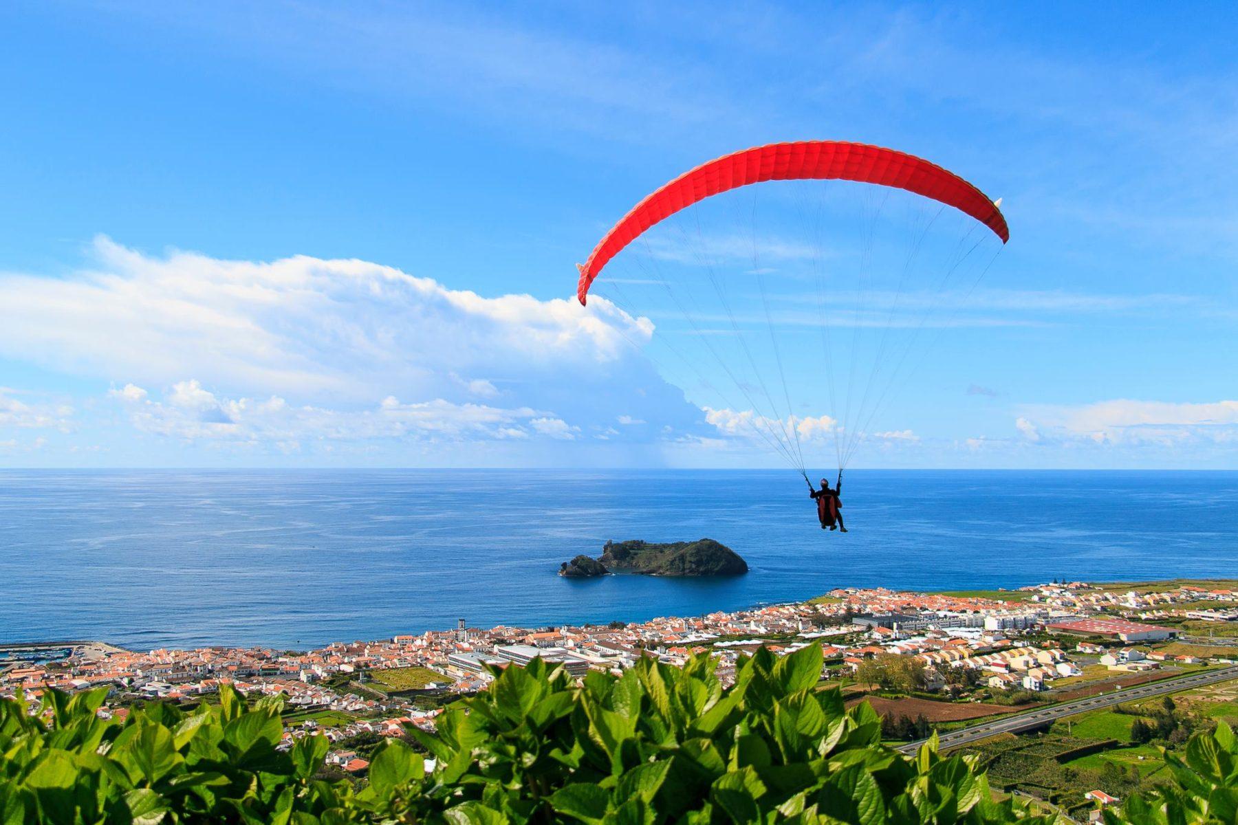 Voando sobre Vila Franca do Campo