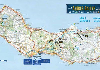 Mapa Azores Rallye 2019