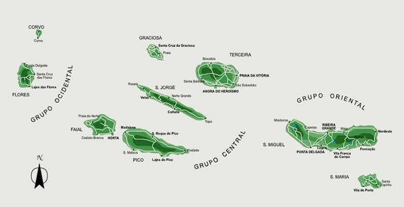 Quantas Ilhas Tem Os Acores Arquipelago Dos Acores