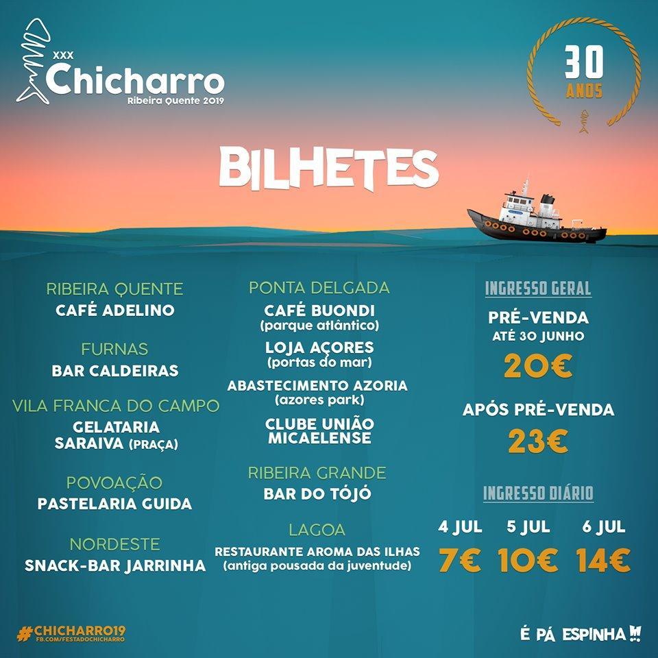 Bilhetes Festa do Chicharro 2019
