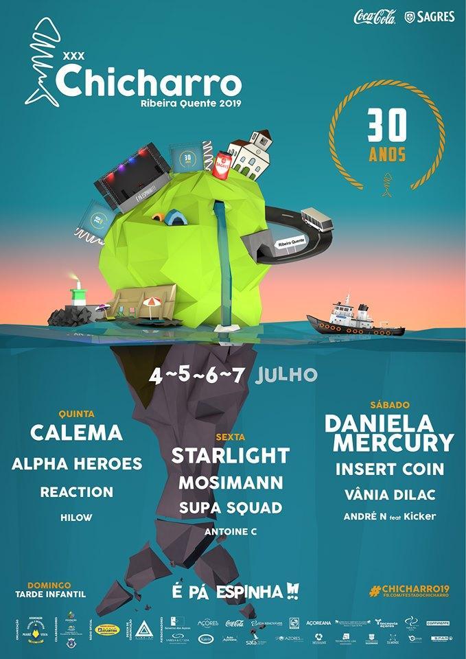 Cartaz Festa do Chicharro 2019 - Ribeira Quente - São Miguel, Açores