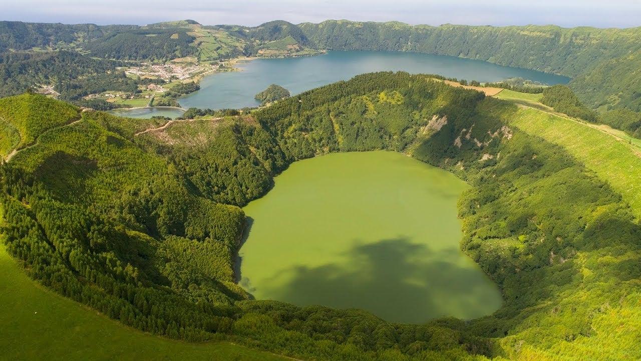 Lagoa Rasa, de Santiago e das Sete Cidades vistas do céu – imagens simplesmente magníficas
