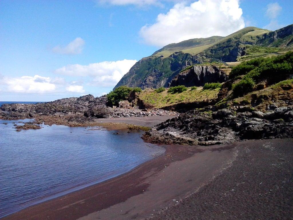 Praia da Areia ou Portinho da Areia, Ilha do Corvo - Açores