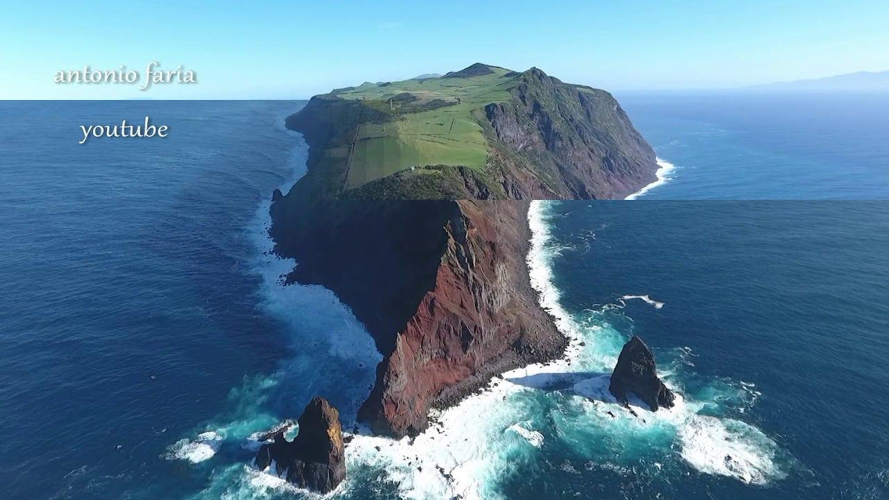 Imagens aéreas da Ilha de São Jorge