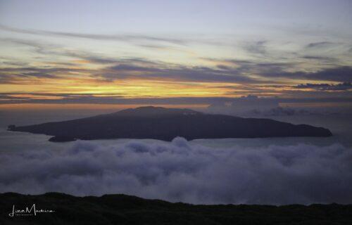 Entardecer do Pico para o Faial