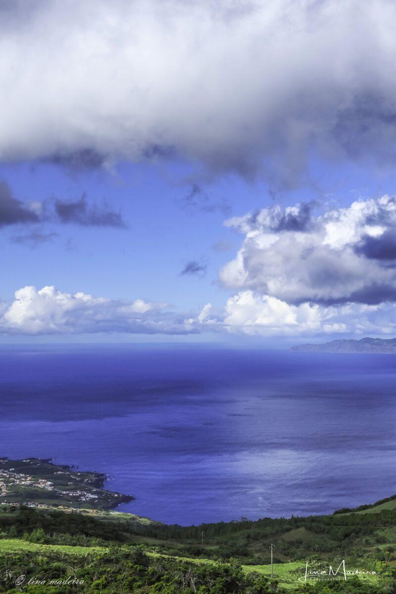 O azul e verde do Pico