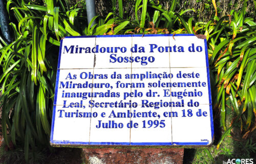 Miradouro da Ponto do Sossego – Azulejo Informativo