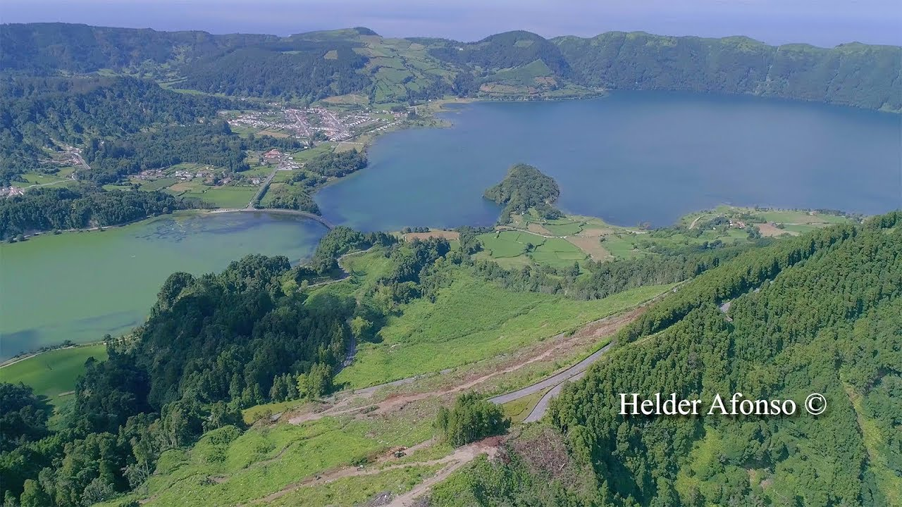 Lagoas das Sete Cidades / Rasa / Santiago vistas do céu – Imagens simplesmente magníficas