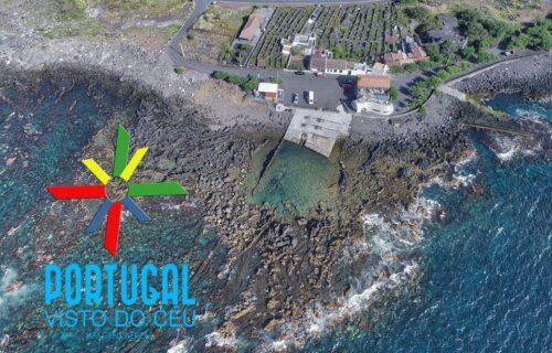 Cella Bar / Zona Balnear da Barca (Madalena, Ilha do Pico) vistos do céu. Imagens simplesmente magníficas