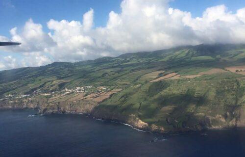 Vista área costa sul da Ilha de São Miguel
