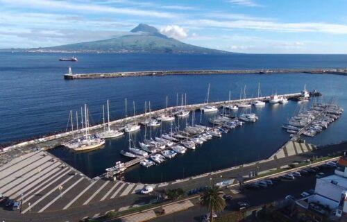 Cidade da Horta vista do céu - Açores