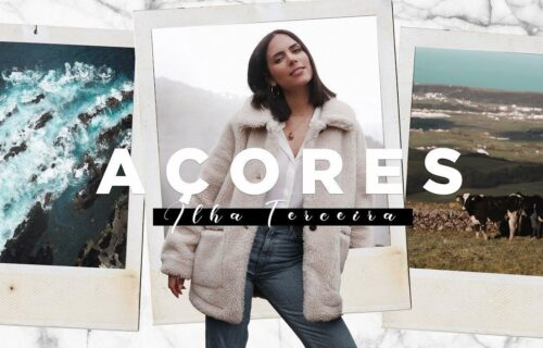 Olivia Ortiz visita Ilha Terceira e grava vlog com guia e dicas