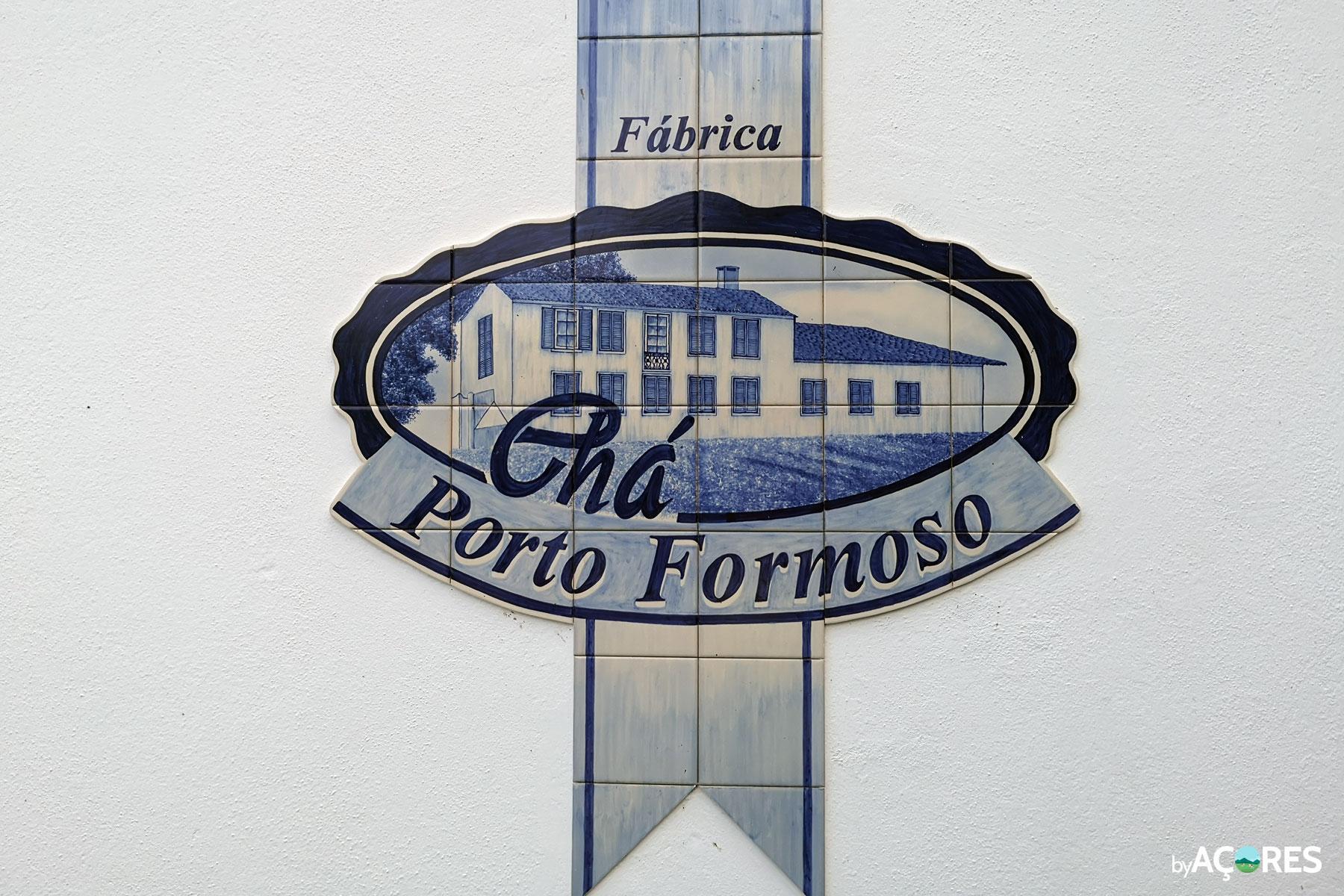Fábrica Chá Porto Formoso – Logo em Azulejo