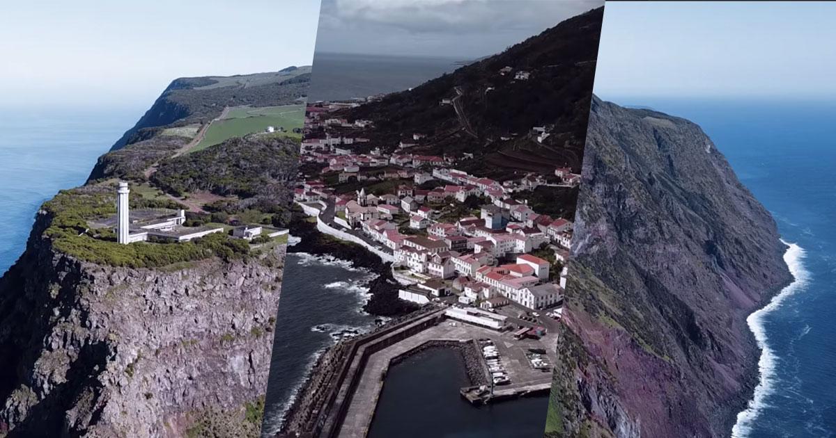 Magníficas imagens aéreas da Ilha de São Jorge