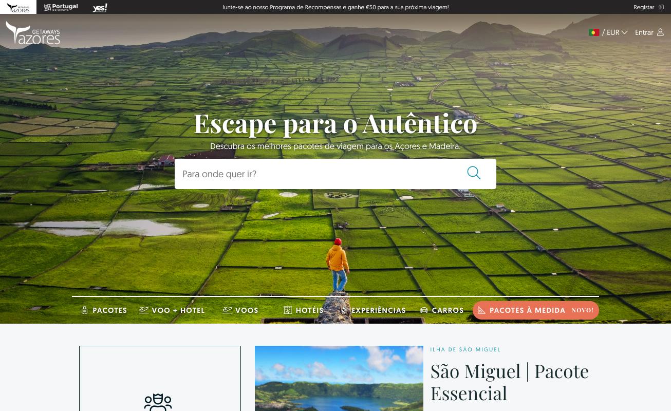 Azores Getaways - Página Inicial
