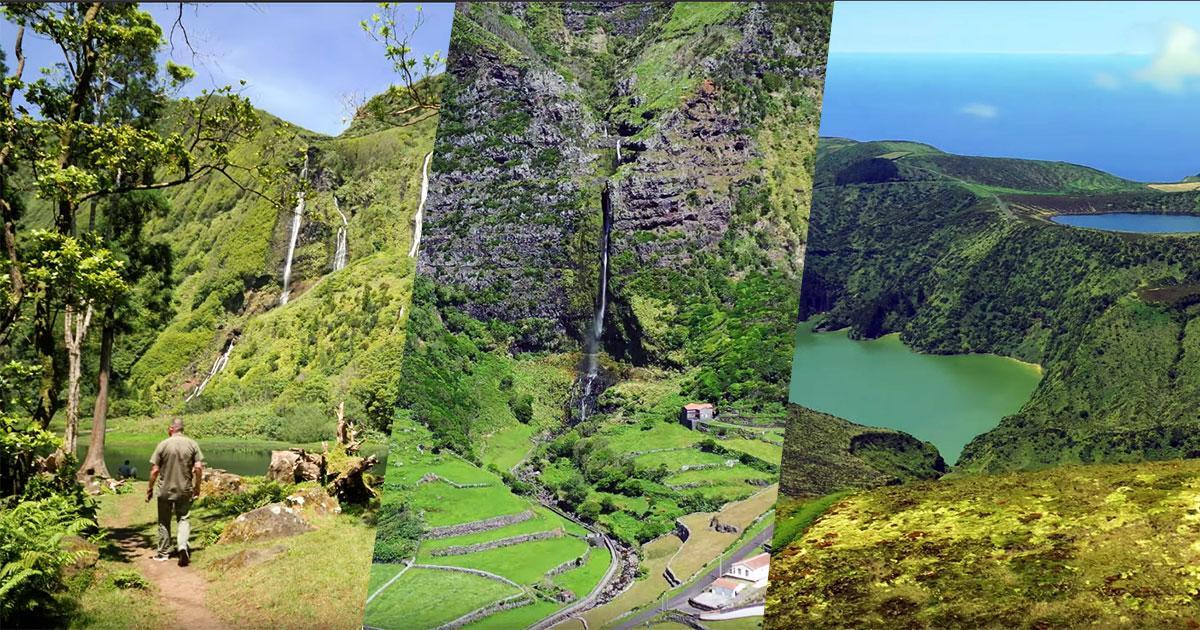 Este vídeo mostra-lhe o porquê da Ilha das Flores ser considerada uma das mais belas ilhas dos Açores