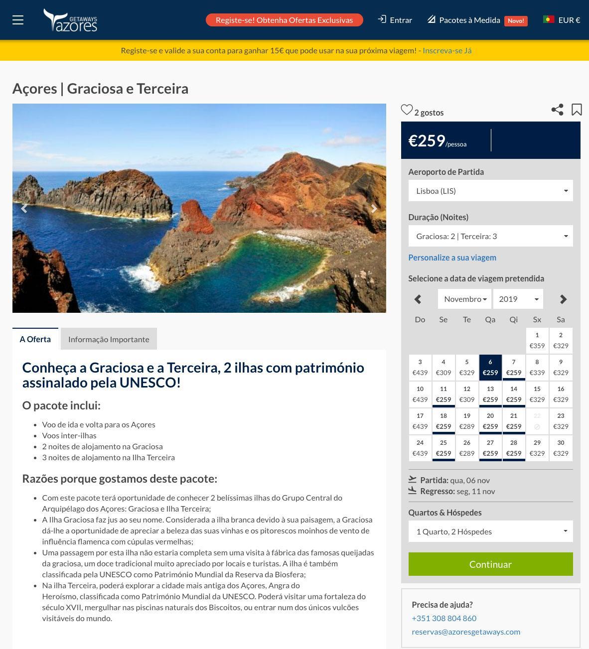 Pacote Açores: Graciosa e Terceira - AzoresGetaways