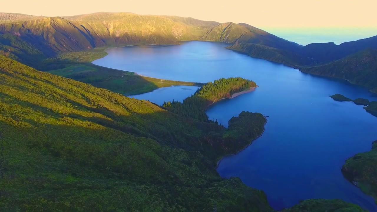 Imagens aéreas da Ilha de São Miguel