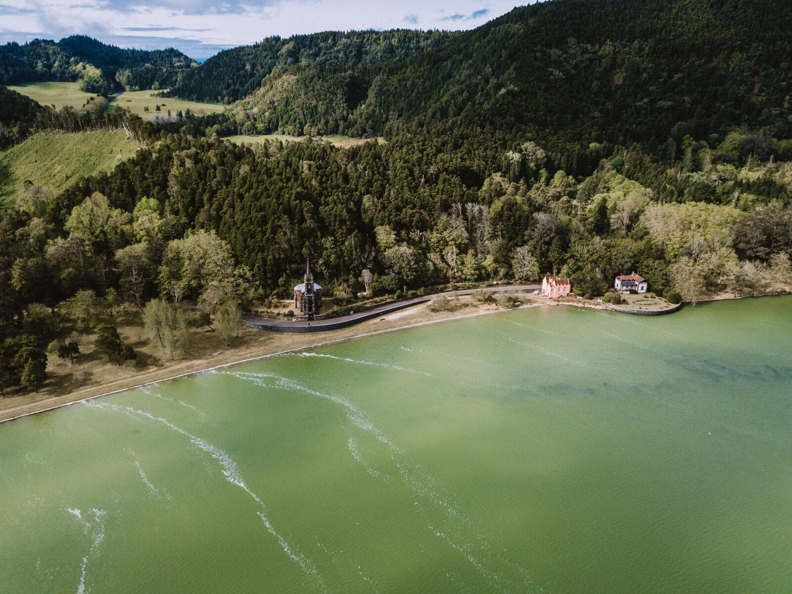 Lagoa das Furnas – Vista aérea