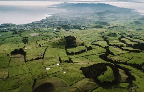 Vista aérea Ilha de São Miguel – Verde