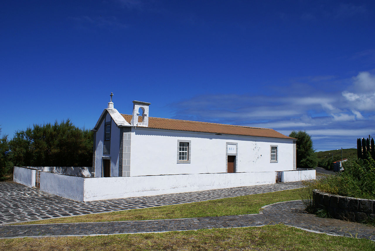Ermida de Nossa Senhora das Vitórias, vista lateral, Vitória, Santa Cruz da Graciosa, ilha Graciosa, Açores, Portugal