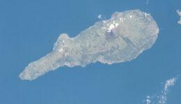Ilha do Pico vista do espaço, pela NASA