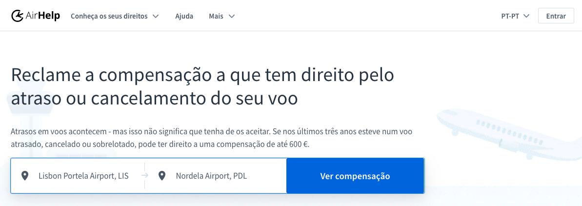 AirHelp - Verificar compensação monetária