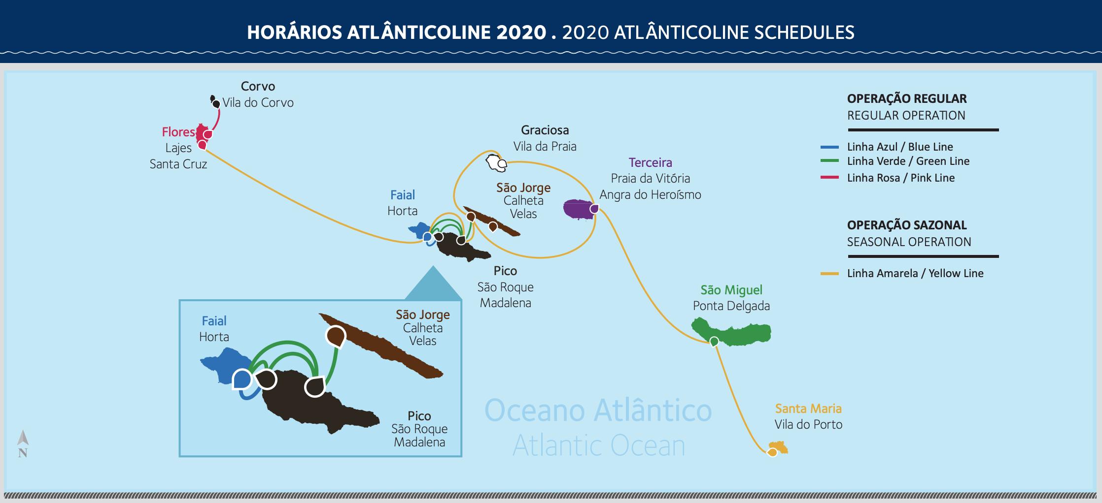 Atlânticoline - Horários 2020