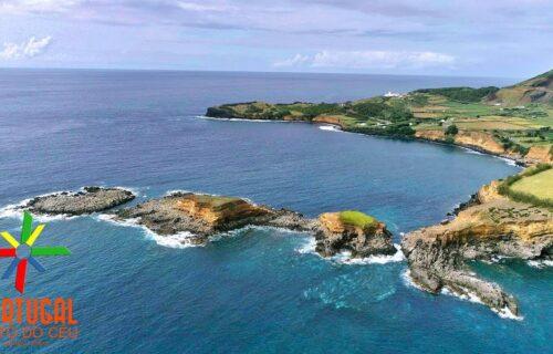 Baía e Farol das Contendas, na Terceira (Açores), visto do céu – Imagens simplesmente magníficas