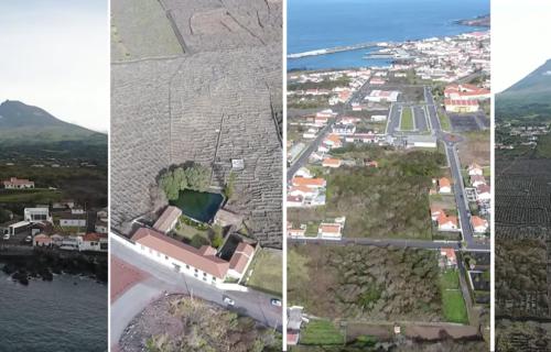Imagens aéreas da Vila da Madalena, na Ilha do Pico