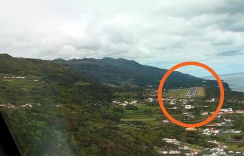 Aterragem em Velas, Ilha de São Jorge