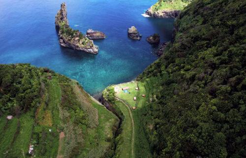 Imagens aéreas incríveis da Ilha das Flores, nos Açores