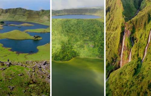 Imagens aéreas da Ilha das Flores e Corvo