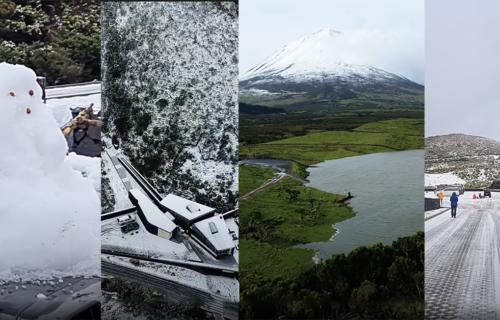 Montanha do Pico coberta de Neve 20/02/2021