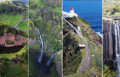 Imagens aéreas magníficas da Ilha de Santa Maria