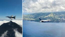 Galeria de fotos: Destacamento da Base Aérea nº5 (Força Área) sobrevoou as 9 ilhas dos Açores