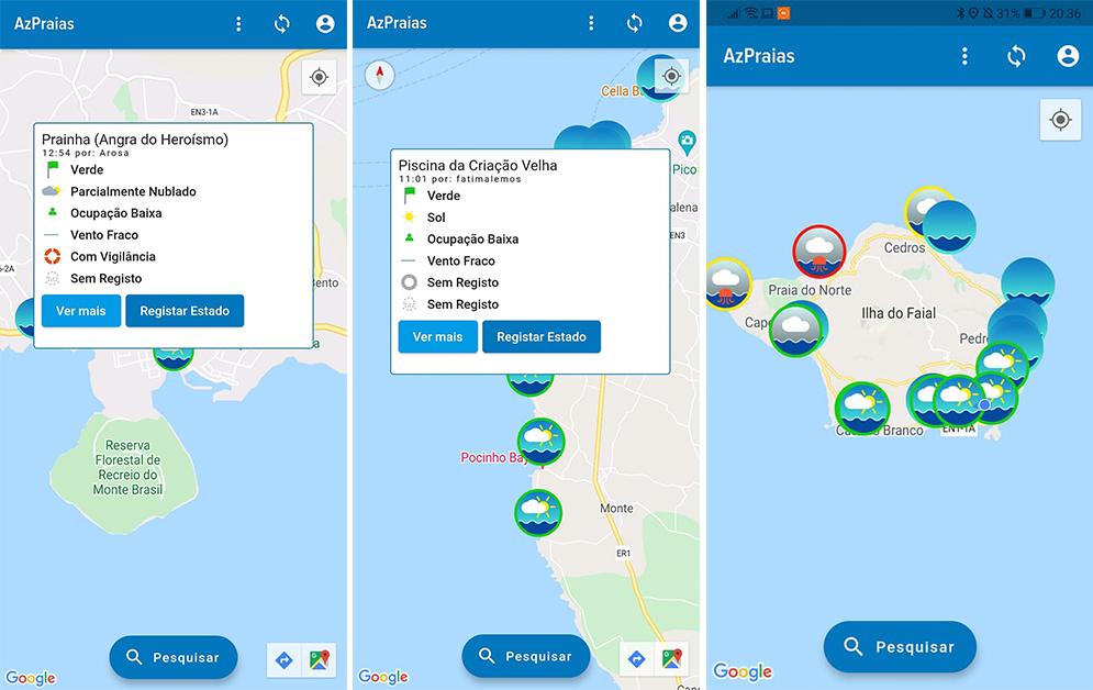 AZPraias - App Zonas Balneares em Tempo Real Açores